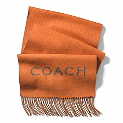 COACH BICOLOR DOUBLE FACED CASHMERE BLEND WOVEN SCARF - ONE COLOR - F83758