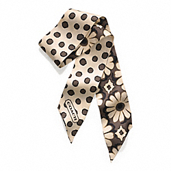 COACH POPPY FLORAL PONYTAIL SCARF - ONE COLOR - F83778