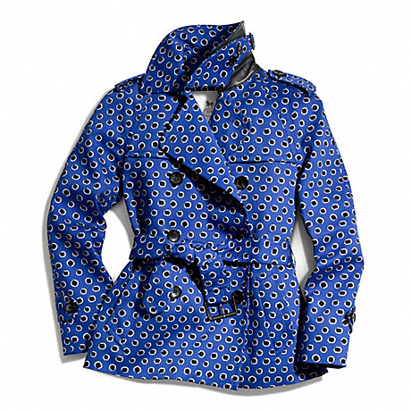 COACH POPPY DOT SHORT TRENCH COAT -  - f83785