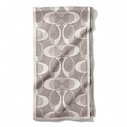 COACH TONAL DREAM C KNIT SCARF - GRAY/SILVER - F83834