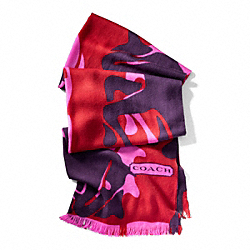 COACH ABSTRACT HORSE AND CARRIAGE SHAWL - ONE COLOR - F83835