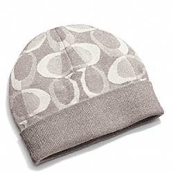 TONAL DREAM C KNIT HAT - GRAY/SILVER - COACH F83840