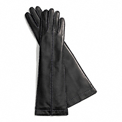 COACH LONG BONNIE STITCH LEATHER GLOVE - BLACK - F83862