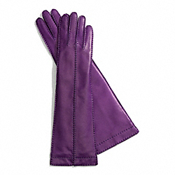 COACH LONG BONNIE STITCH LEATHER GLOVE - PURPLE - F83862