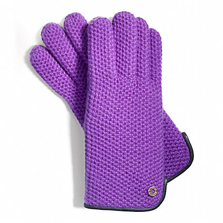 COACH HONEYCOMB KNIT GLOVE -  - f83892