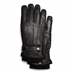 COACH 3-IN-1 DEERSKIN GLOVE - BLACK/BLACK - F83898