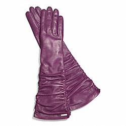 COACH LEATHER LONG GLOVE - ONE COLOR - F83958