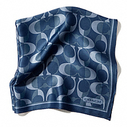 COACH PEYTON DREAM C 27X27 SCARF - DENIM - F83972
