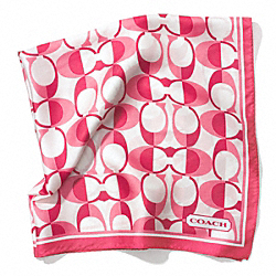COACH PEYTON DREAM C 27 X 27 SCARF - PINK - F83972