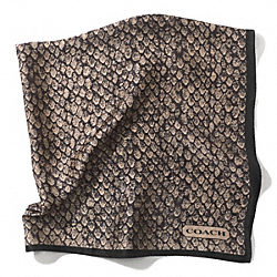 COACH TAYLOR SNAKE PRINT 27x27 SCARF - ONE COLOR - F83981