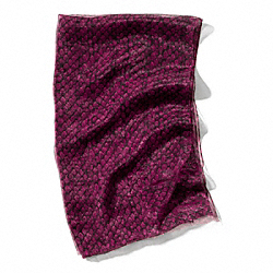 COACH METALLIC SNAKE PRINT WRAP - BURGUNDY - F83982