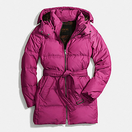 COACH CENTER ZIP PUFFER - PASSION BERRY - f83993