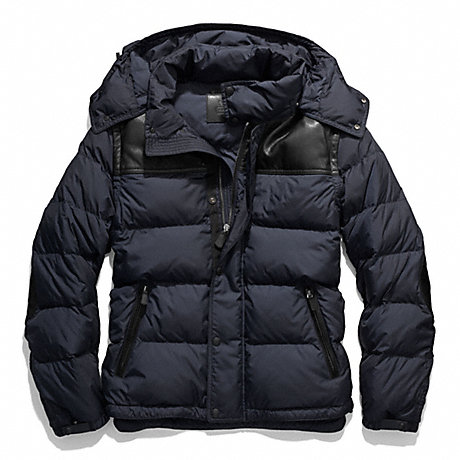 COACH CLARKSON DOWN JACKET - NAVY - f83999