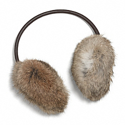 RABBIT FUR EAR MUFFS COACH F84010