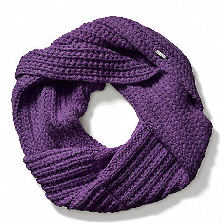 COACH f84014 CHUNKY TWISTED COWL PURPLE