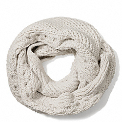 COACH ARAN KNIT INFINITY SCARF - ONE COLOR - F84061