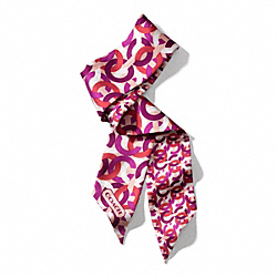 COACH CHAINLINK PONYTAIL SCARF - BERRY - F84076