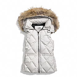 COACH PUFFER VEST - ONE COLOR - F84096