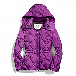 COACH SHORT PUFFER JACKET - ONE COLOR - F84105