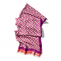 MINI CHAINLINK OBLONG SCARF COACH F84106