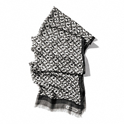 COACH MINI CHAINLINK OBLONG SCARF - ONE COLOR - F84106