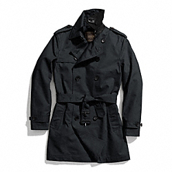 COACH TRENCH COAT - NAVY - F84211