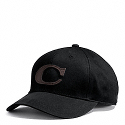 CANVAS VARSITY C HAT - BLACK - COACH F84213