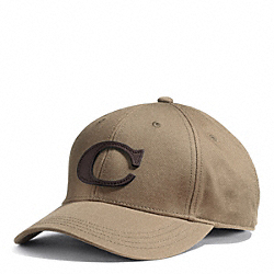 CANVAS VARSITY C HAT - KHAKI - COACH F84213