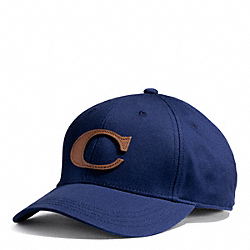 CANVAS VARSITY C HAT - NAVY - COACH F84213