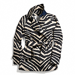 COACH ZEBRA TRENCH COAT - ONE COLOR - F84238