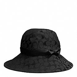 COACH CAMPBELL SIGNATURE RAIN HAT - BLACK/BLACK - F84244