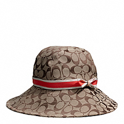 COACH CAMPBELL SIGNATURE RAIN HAT - ONE COLOR - F84244