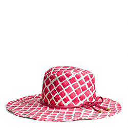 COACH PAINTED DIAMONDS FLOPPY HAT - ONE COLOR - F84246