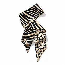 COACH ZEBRA PONYTAIL SCARF - ONE COLOR - F84254