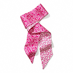 COACH MINI HEARTS PONYTAIL SCARF - ONE COLOR - F84256