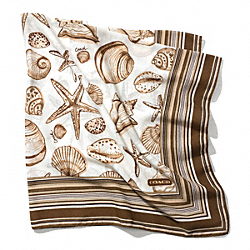COACH RESORT SHELLS SCARF - ONE COLOR - F84262