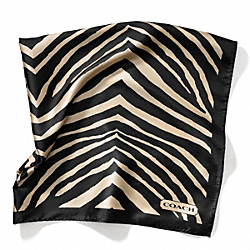 COACH ZEBRA 27X27 SCARF - ONE COLOR - F84264