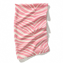 COACH GRAPHIC ZEBRA OMBRE WRAP - PINK - F84265