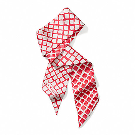 COACH f84266 PAINTED DIAMONDS PONYTAIL SCARF