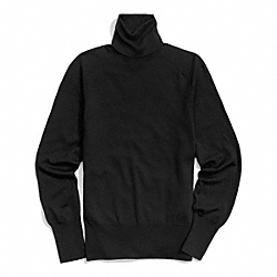 FINE GAUGE POLO NECK SWEATER - f84280 - BLACK