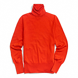 COACH FINE GAUGE POLO NECK SWEATER - RED - F84280