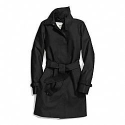COACH CLASSIC TWILL GETAWAY TRENCH - BLACK - F84283