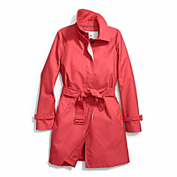 COACH CLASSIC TWILL GETAWAY TRENCH - RED - F84283