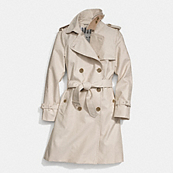 COACH CLASSIC LONG TRENCH - STONE - F84294