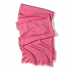 COACH MINI OP ART OBLONG SCARF - BAJ - F84325