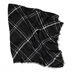 TATTERSALL 44X44 SCARF - BLACK - COACH F84331