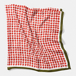 COACH PAINTED DOT 44 X 44 SCARF - RED - F84340