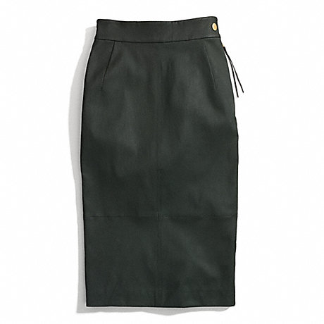 COACH LEATHER SEXY SKIRT -  - f84383