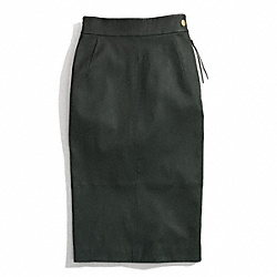 COACH LEATHER SEXY SKIRT - ONE COLOR - F84383