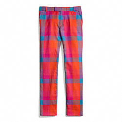 COACH PRINT WOOL CIGARETTE TROUSER - ONE COLOR - F84386